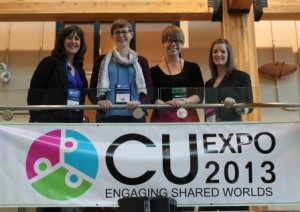 Members of the research team at CU Expo 2013.